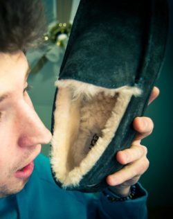 how to clean sheepskin slippers